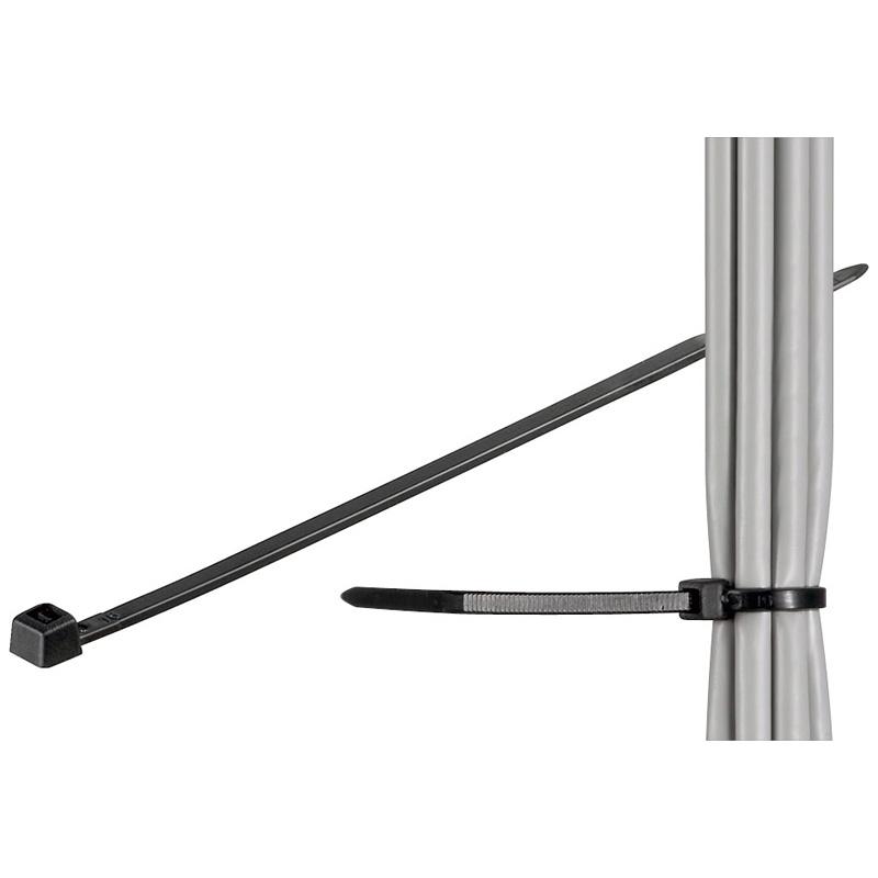 Fixpoint 17070 ø 39mm Kabelbinder, wetterfester Nylon, schwarz ...