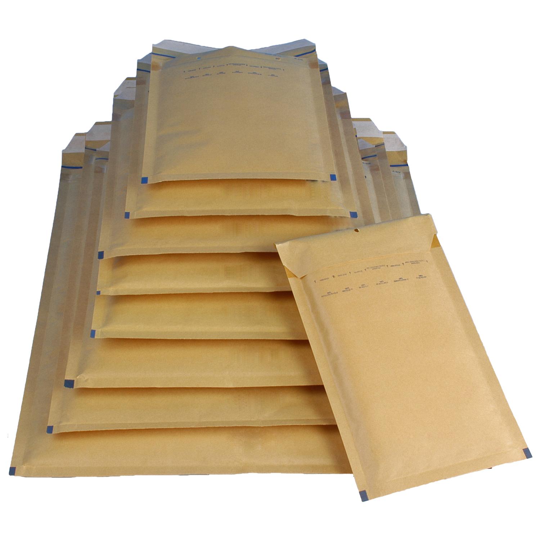 200 x 275 mm 200 Luftpolster-Versandtaschen D//4 Außenmaße braun