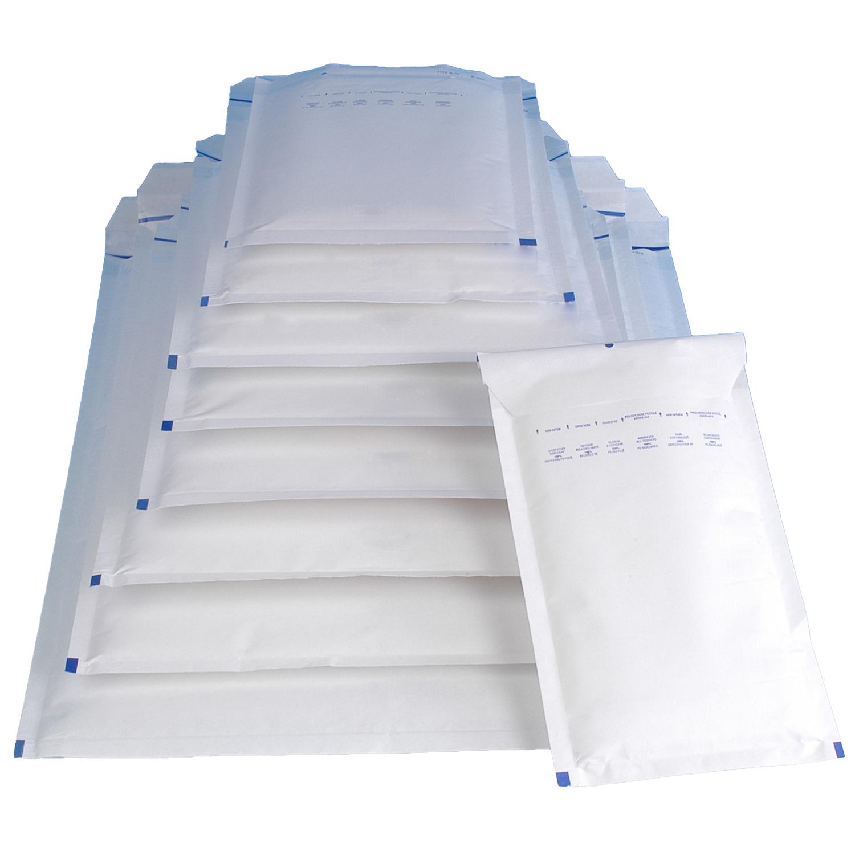 600 B2 Luftpolstertaschen Versandtaschen Luftpolstertüten 140 x 225 mm weiß B 2