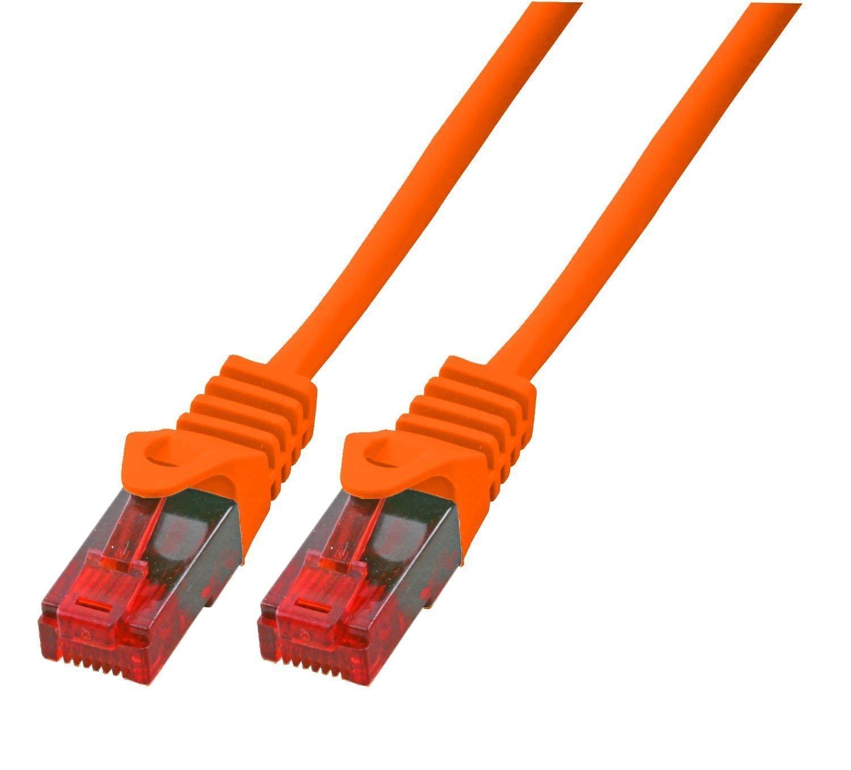 50m gigabit ethernet lan kabel netzwerkkabel orange. Black Bedroom Furniture Sets. Home Design Ideas