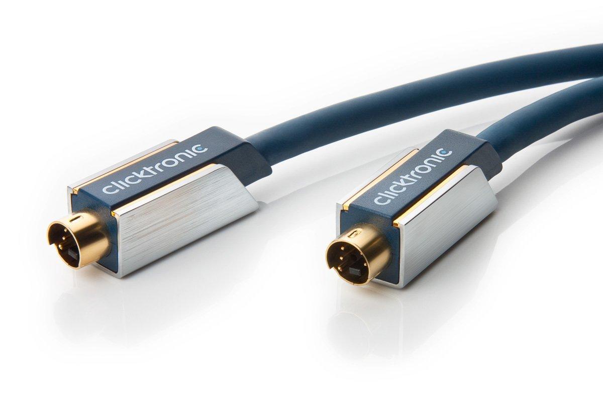 2m SVHS Kabel S-Video 4 pol min DIN Stecker S-Video vergoldet Anschlusskabel TV